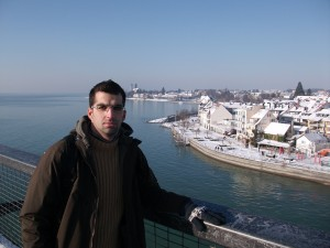 Vistas de Friedrichshafen en invierno