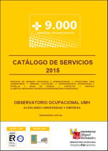 Catálogo de servicios Observatorio 2015