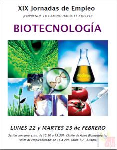 XIX Jornada Empleo Biotecnología